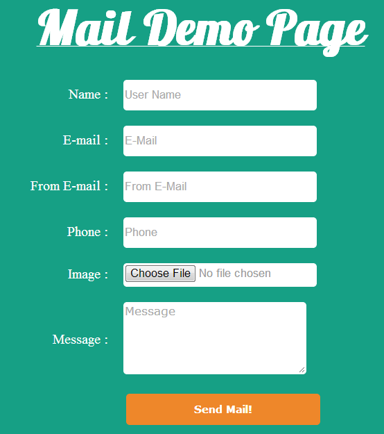 php script to send mail with attachment