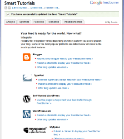 add google rss feed to website