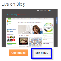 blogger dashboard- how to add social sharing button to blog