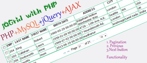 jQGrid PHP Tutorial