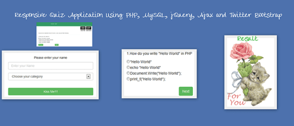 Responsive Quiz Application Using PHP, MySQL, jQuery, Ajax and Twitter Bootstrap