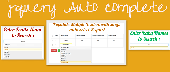jQuery Autocomplete Search using PHP, MySQL and Ajax