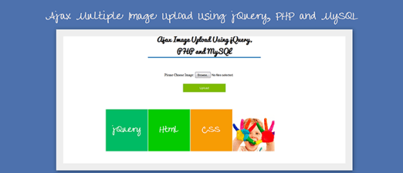 Ajax Multiple Image Upload With Resize Using jQuery PHP