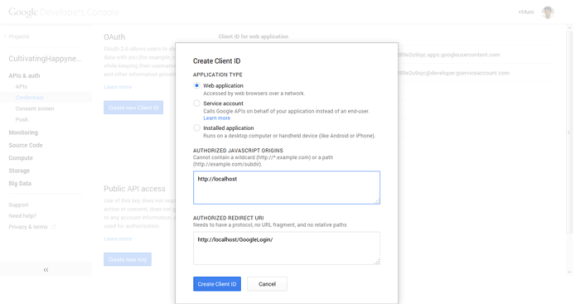 Steps to create Google Oauth Project in Google Api Console