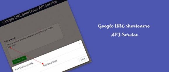 PHP Google URL Shortener API Service