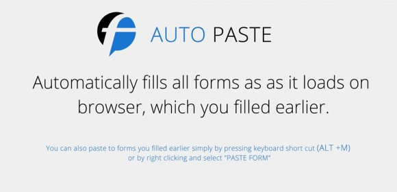 Auto Paste chrome extension