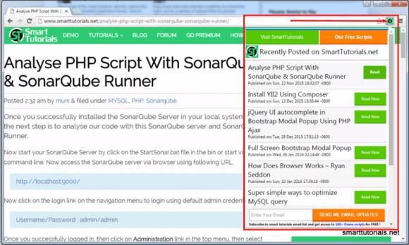 Chrome extension smart tutorials