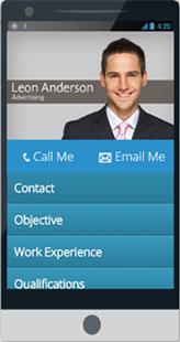 Make Mobile resume responsive cv