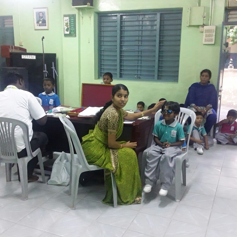 Eye Screening Camp At Bharath School Adyar