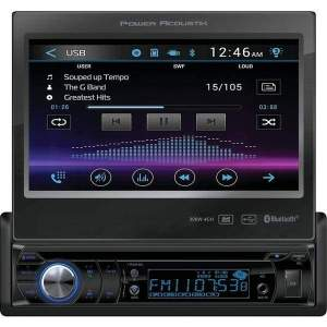 7 Single-DIN In-Dash Motorized LCD Touchscreen DVD Receiver with Bluetooth(R) - Automotive Receivers