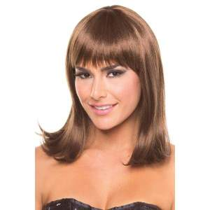 BW093BR Doll Wig Brown - Brown / Female / O/S - Wigs