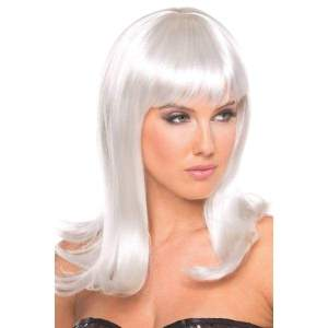 BW094WT Hollywood Wig White - White / Female / O/S - Wigs