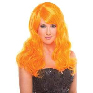 BW095OR Burlesque Wig Orange - Orange / Female / O/S - Wigs