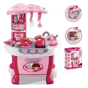 Deluxe Kitchen Appliance Cooking Play Set with Lights & Sound - Kitchen Set