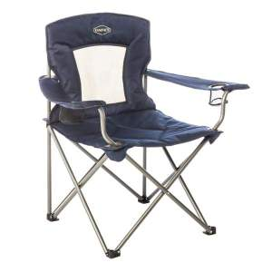 Kamp-Rite Padded Chair with Mesh Back - Chairs & Cots