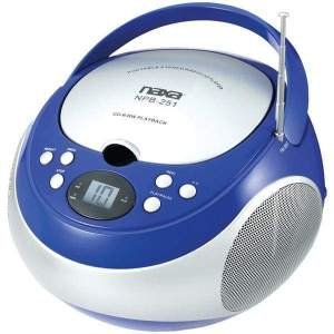 Portable CD Player with AM-FM Radio (Blue) - Personal Electronics