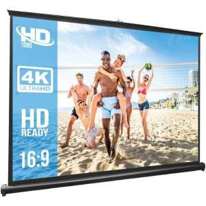 Retractable Pull-out-Style Manual Projector Screen (50-Inch) - Projectors
