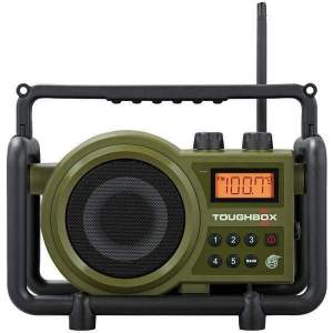 TOUGHBOX FM-AM-Aux Ultra-Rugged Digital Rechargeable Radio - Personal Electronics