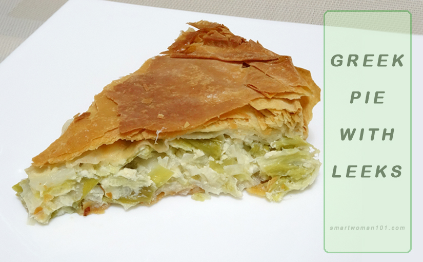 Greek pie with leeks