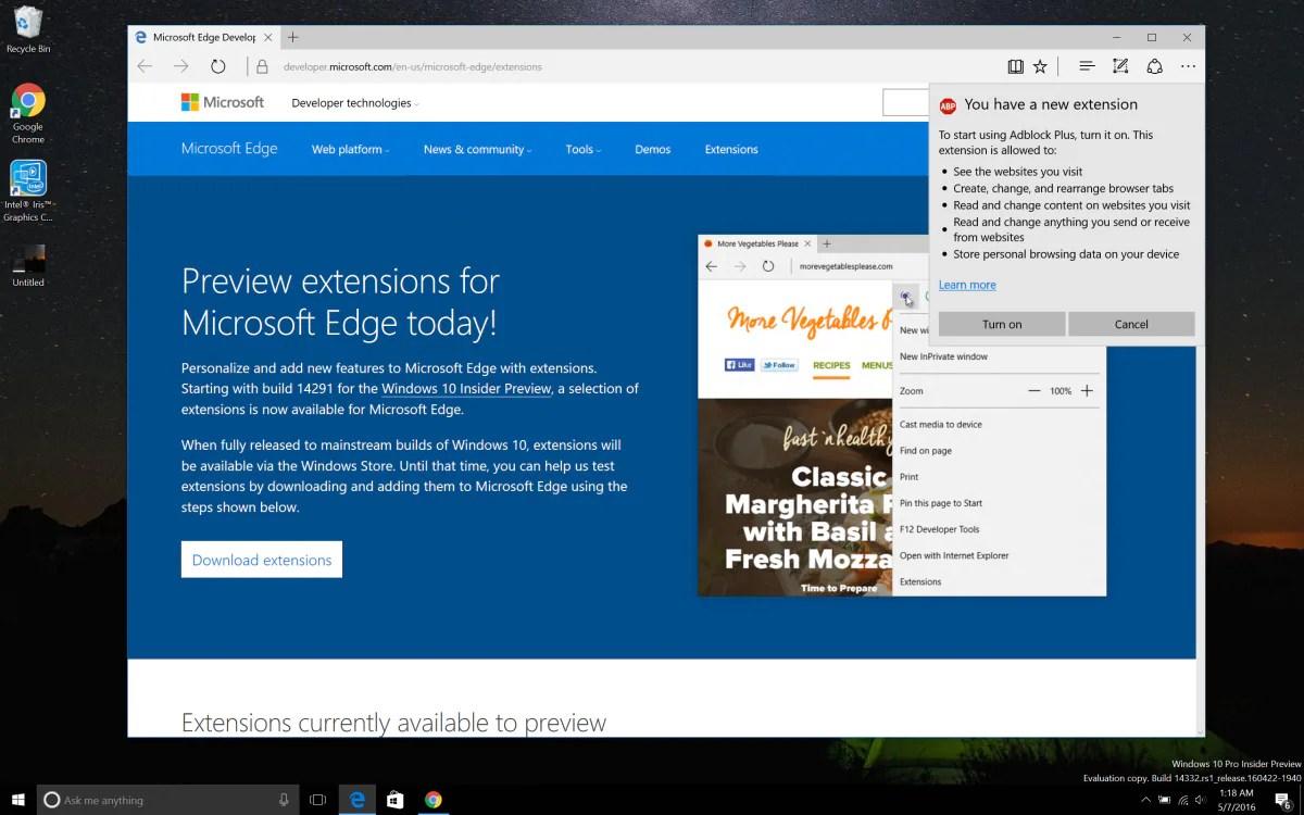 AdBlock e AdBlock Plus adesso disponibili per Microsoft Edge. ma solo per i Windows Insider   Foto 1 di 3