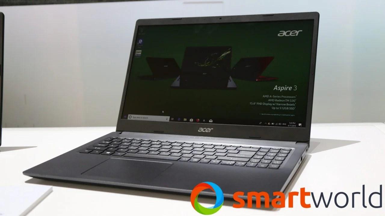 Quattro nuovi portatili da meno di 800€: Acer Spin 3. Aspire 3. 5 e 7 2019 (foto e video) | SmartWorld