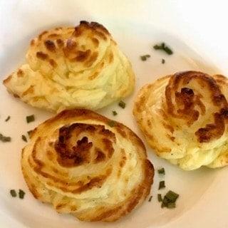 Three Duchess Potatoes