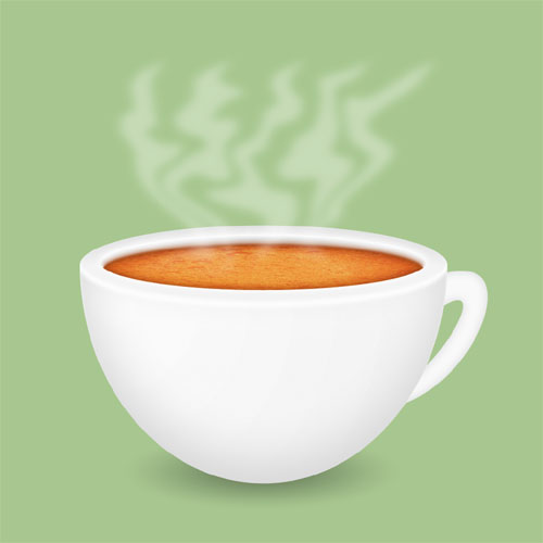 Simple Coffee Cup Icon Photoshop Tutorial