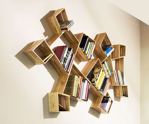 'Split' box shelves
