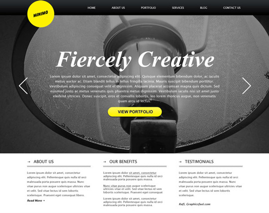 40+ High Quality And Free Web Templates In PSD