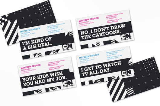 CARTOON NETWORK BUSINESS CARDS