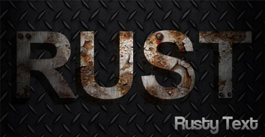 Rusty - Create rusty metal text Featured