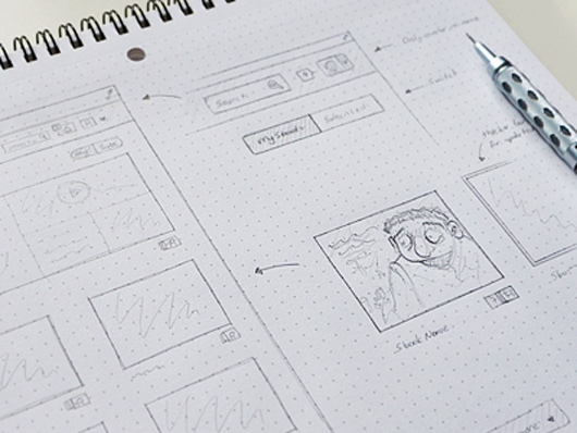 Inspiring Wireframe UI Sketches