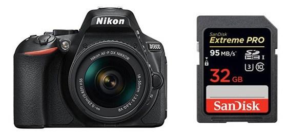SD Card For Nikon D5600 Camera 32GB 64GB 128GB