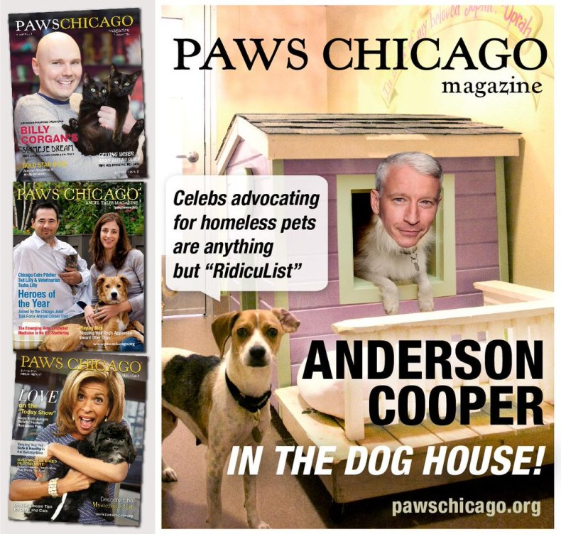 PAWS Chicago Anderson Cooper in the dog house