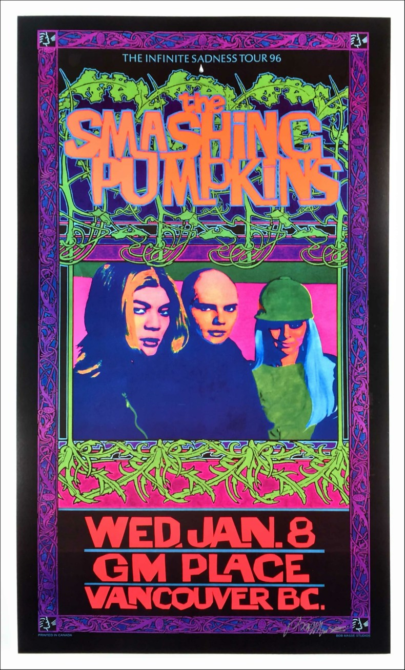 Smashing Pumpkins Infinite Sadness Tour poster