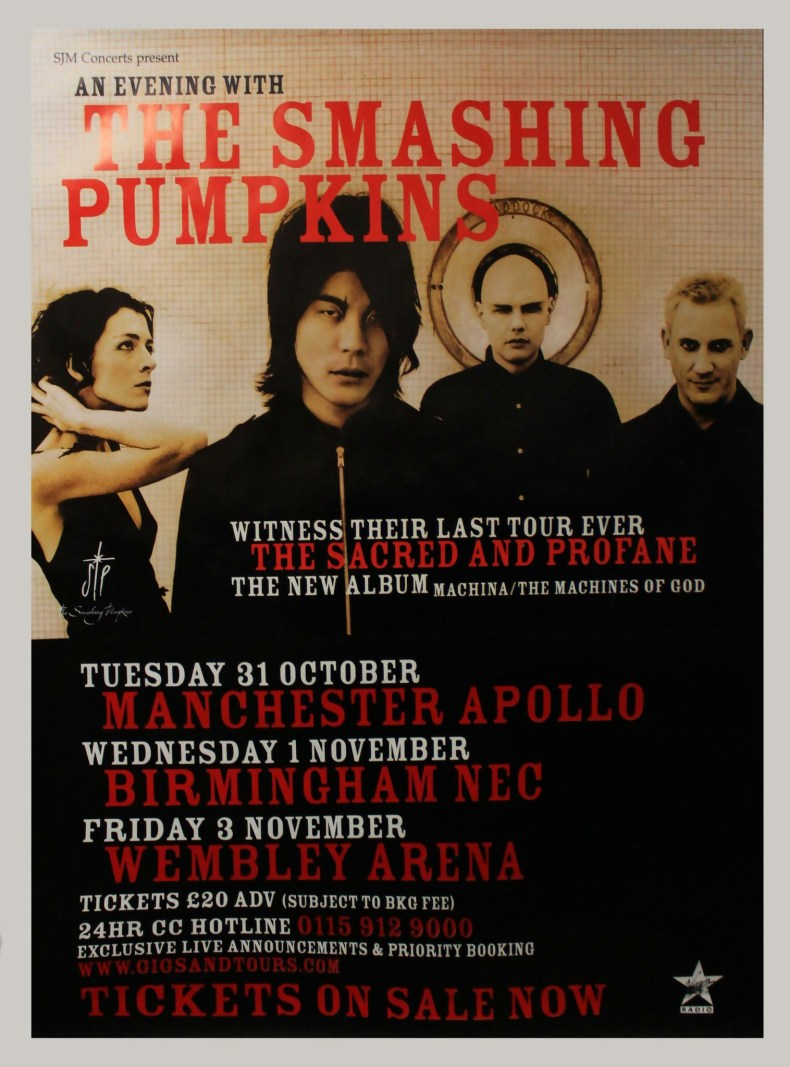 Smashing Pumpkins The Sacred And Profane Tour poster