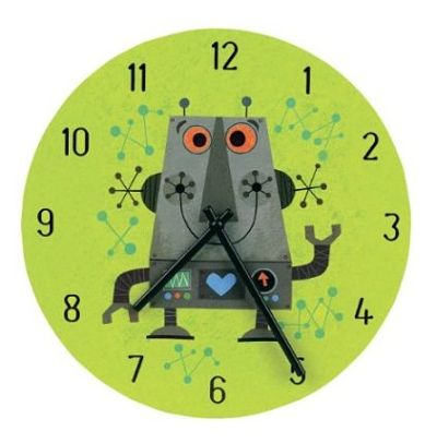 Mudpuppy Robot Wall Clock