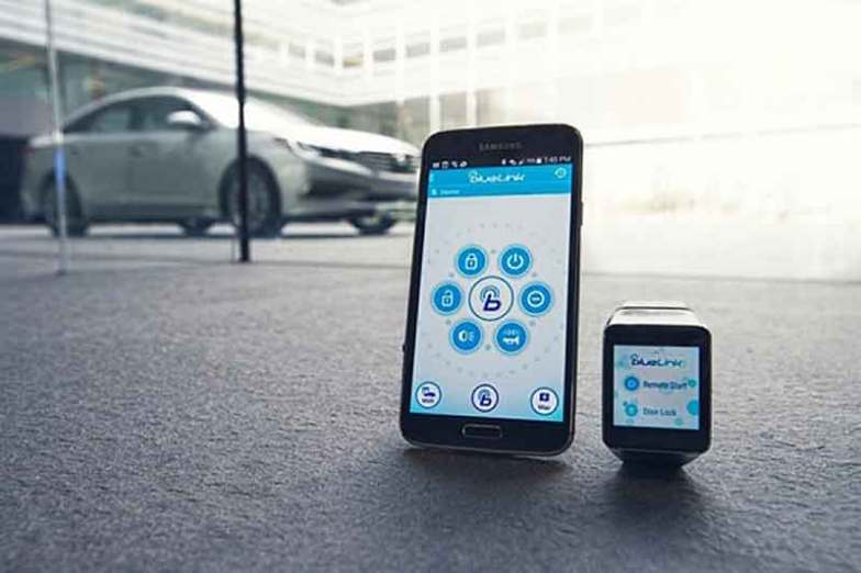 Hyundai Blue Link integrated with smart devices