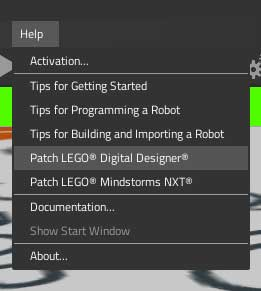 Patch LDD from Virtual Robotics Toolkit