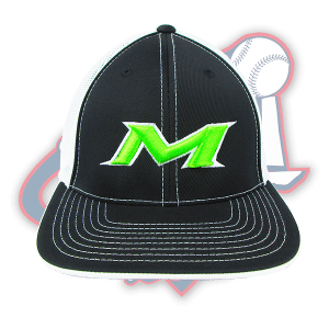 miken-m-baseball-hat-black-lime-green