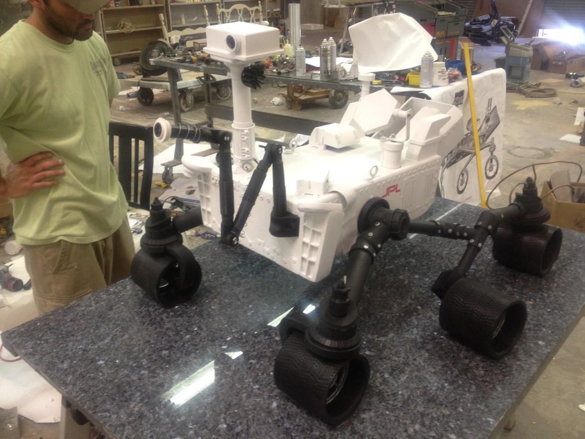 msl scaled model, NASA JPL Rover