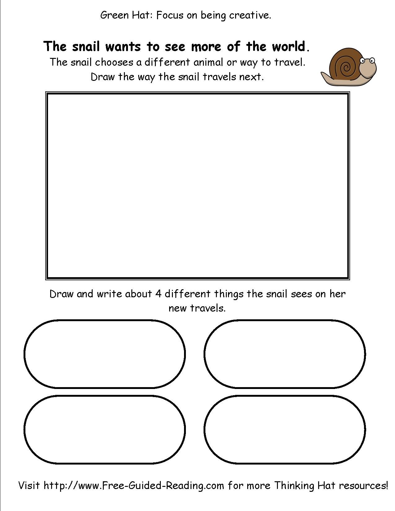 Smashwords 16 Thinking Hat Worksheets For The Snail And The Whale