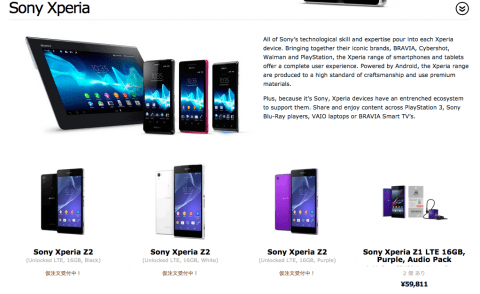 Xperia Z2 Expansys