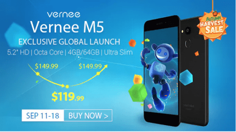 Vernee M5 launch