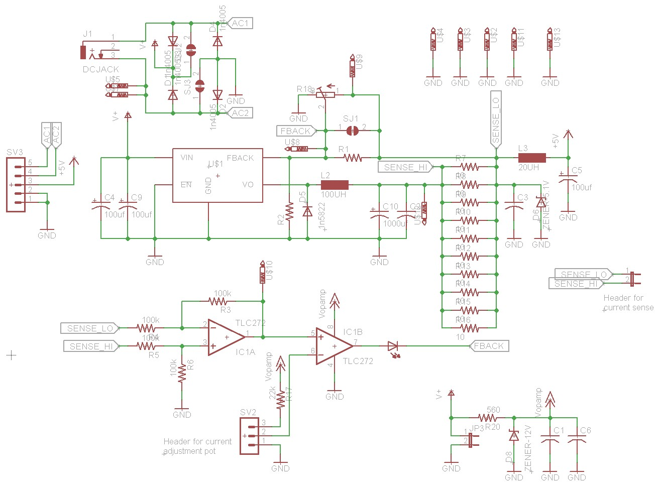 hight resolution of lm2576 constant current power supply