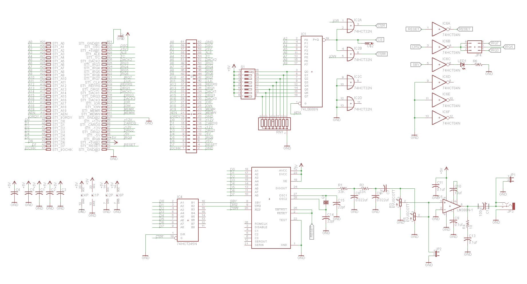 hight resolution of isa speech synthesizer schematic
