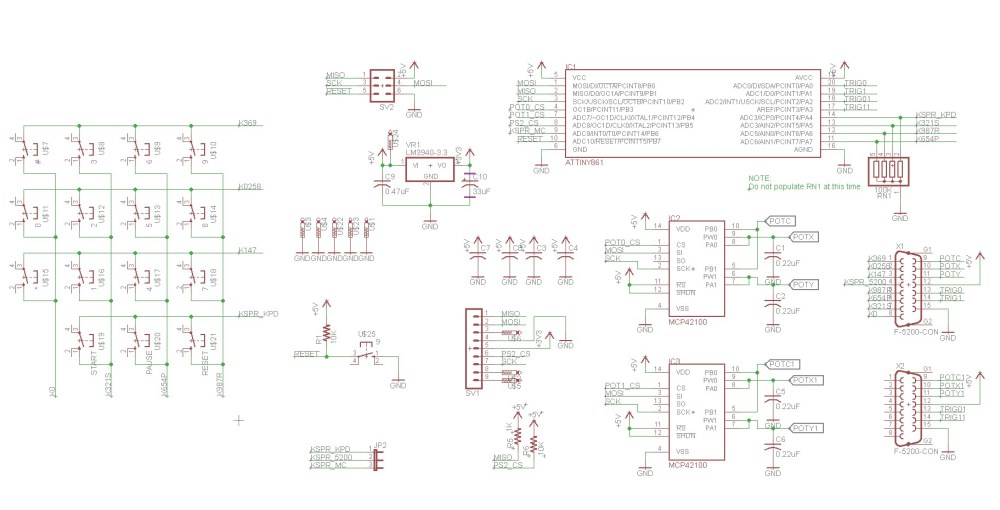 medium resolution of atari 5200 ps2 controller adapter schematic