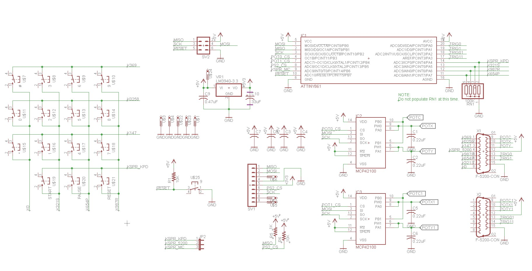 hight resolution of atari 5200 ps2 controller adapter schematic