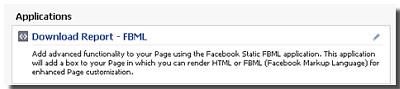 FBML app in Facebook