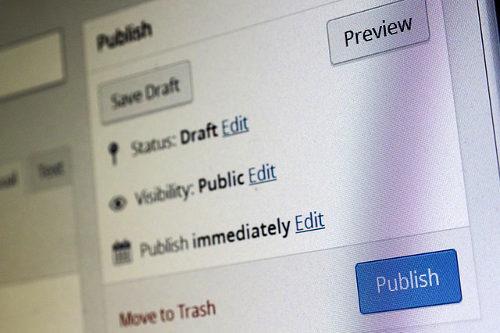 Blog post publishing